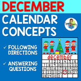 December Calendar Concepts: Following Directions & Answeri