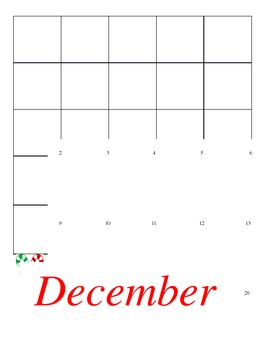 December Calendar - Holidays