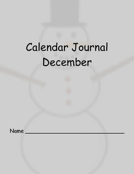 December Calendar Journal