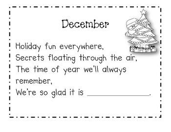 December Calendar Journal Pages