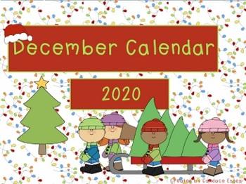 December Calendar Math 2017