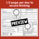 December Calendar Math Student Journal