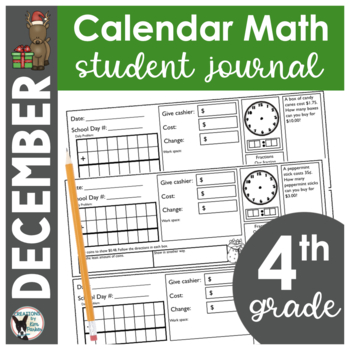 December Calendar Math Student Journal- 4th Grade Edition