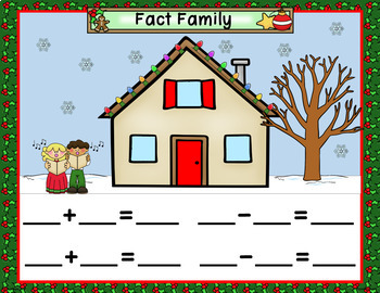 December Calendar Math - in PowerPoint - use with or without interactive board