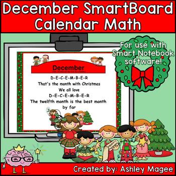 December Calendar Math/Morning Meeting for SMARTBoard