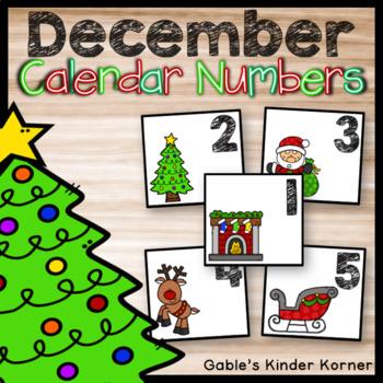 December Calendar Number Sets