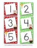 December Calendar Numbers (Christmas Nativity)