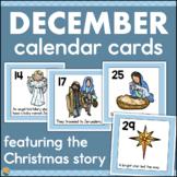 December Calendar Numbers - Nativity/Christmas