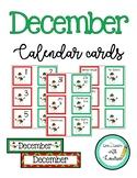 December Calendar Numbers (Snowmen)