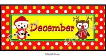 December Calendar Owls