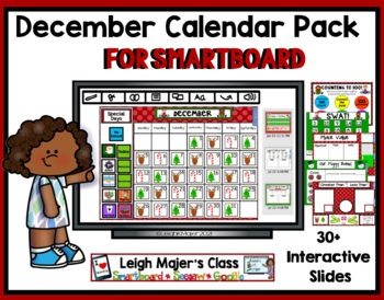 2018 December Math and Calendar Pack for Smartboard