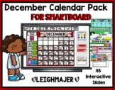 2019 December Calendar and Math Pack for Smartboard