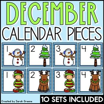 December Calendar Pieces!