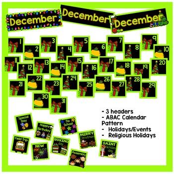 December Calendar Pieces - Black Set