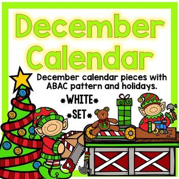 December Calendar Pieces - White Set