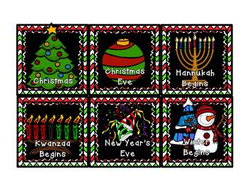 December Calendar Set