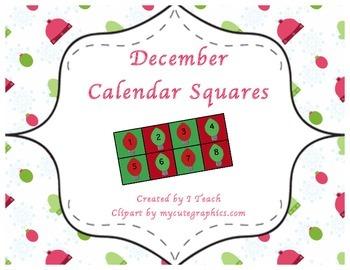 December Calendar Squares