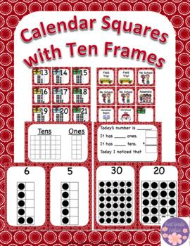 December Calendar Squares Set With Ten Frames That Encourage Math Talk