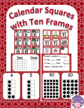 December Calendar Squares Set With Ten Frames That Encourage Math Talk