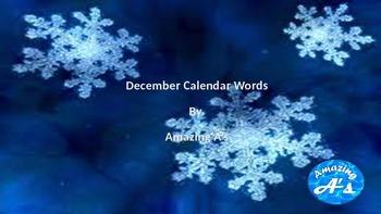 December Calendar Words
