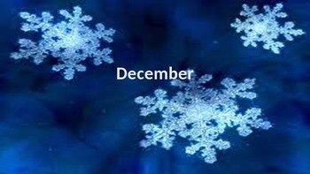 December Calendar & Daily Vocabulary