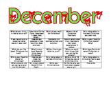 December Calendar Writing Prompts