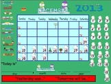 December Morning Meeting & Calendar for Smartboard