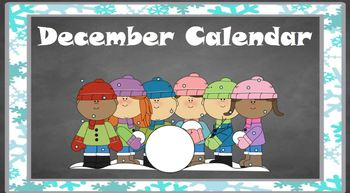 December Calendar for Note (ClearTouch Boards)