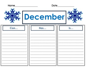 December Can-Has-Is Writing Organizer