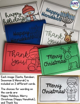 December Cards Ready to Print Holiday and Thank You Cards