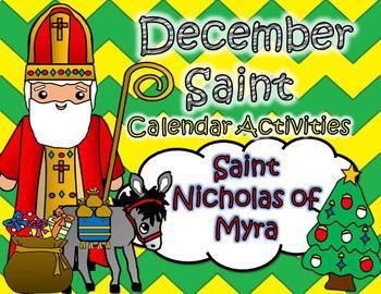 December Catholic Saint Calendar Activities -Saint Nichola