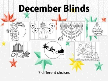 December Celebrations Blinds Agamograph style 3 pictures in 1