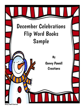 December Celebrations Flip Book - Winter Freebie