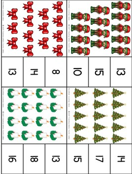 December Center - Counting Clip Cards