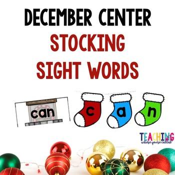 December Center - Stocking Sight Words