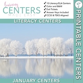 January Centers — First Grade ELA ONLY