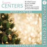 December Centers — First Grade Math ONLY