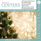 December Centers — First Grade Math and ELA