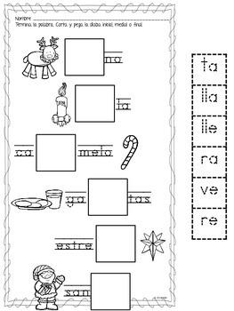 December Centers in Spanish