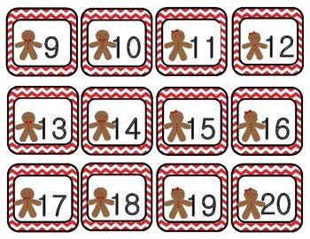 December Chevron Calendar Set