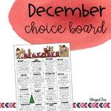 December Early Finishers Choice Board