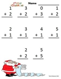 December Christmas Addition & Subtraction Facts Worksheets or with Projector