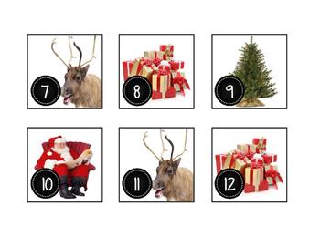 December Christmas Calendar Cards-Real Photos