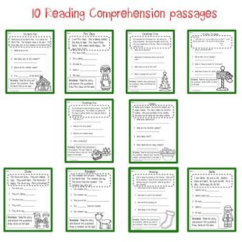 December/Christmas Comprehension Passages