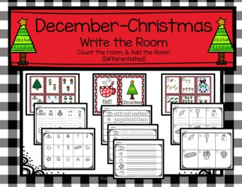 December Christmas Count, Write, and Add the Room