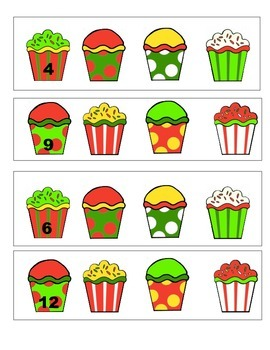 Cupcakes Count Forward From? Math Station Weeks 1-2-3-4