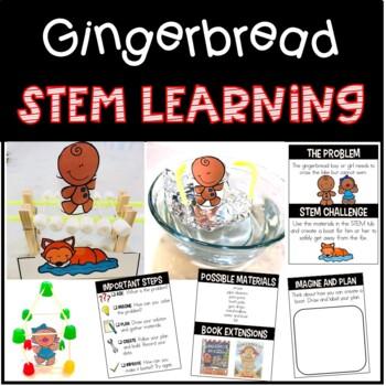 December {Christmas} Gingerbread Man STEM Learning
