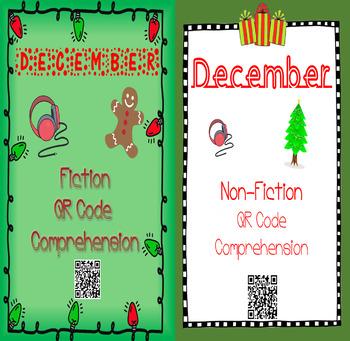 December - Christmas & Gingerbread - QR Code Comprehension BUNDLE (Fiction&Non)