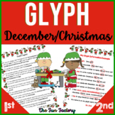 December Christmas Glyph Activity 1st and 2nd Grades