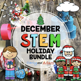 December Christmas and Hanukkah Holiday STEM Activities Bundle